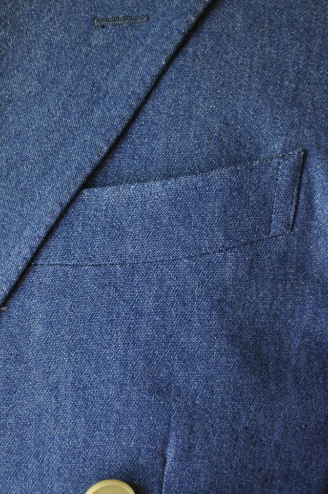 DSC1793 お客様のジャケットの紹介- デニム ダブルジャケット-