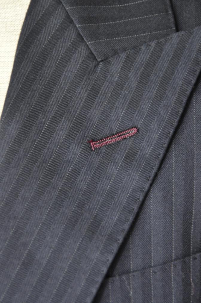DSC1829 お客様のスーツの紹介-ブラックストライプ- 名古屋の完全予約制オーダースーツ専門店DEFFERT