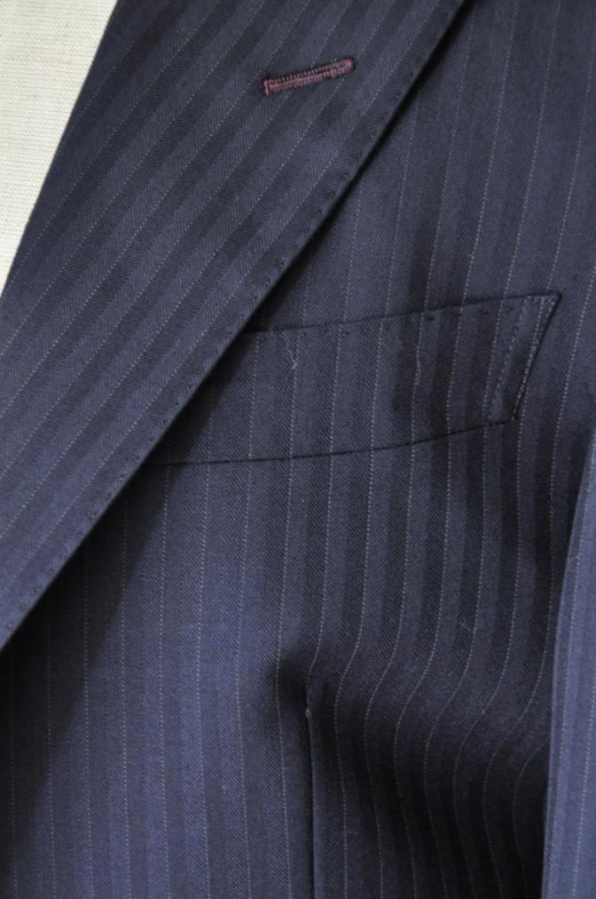 DSC1830 お客様のスーツの紹介-ブラックストライプ- 名古屋の完全予約制オーダースーツ専門店DEFFERT