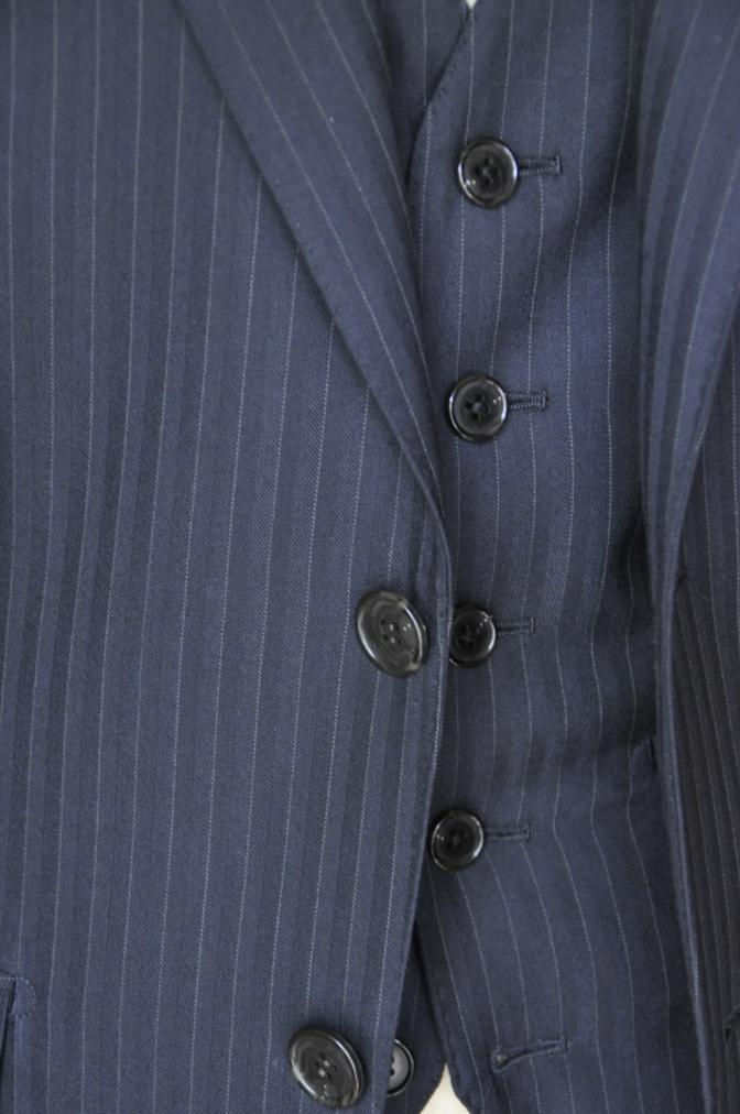 DSC1831 お客様のスーツの紹介-ブラックストライプ- 名古屋の完全予約制オーダースーツ専門店DEFFERT