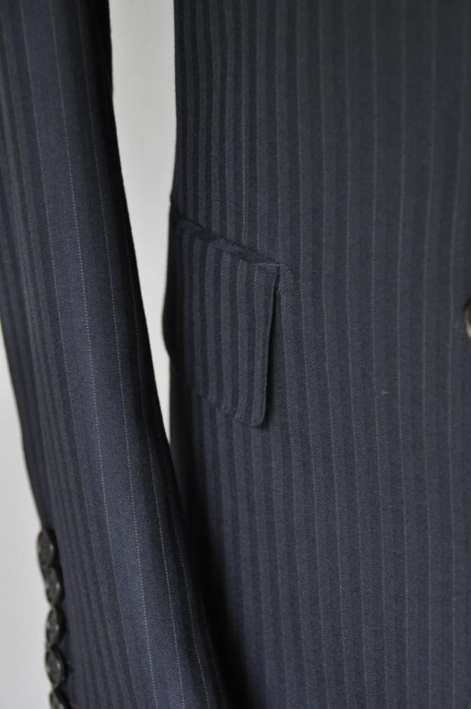 DSC1833 お客様のスーツの紹介-ブラックストライプ- 名古屋の完全予約制オーダースーツ専門店DEFFERT