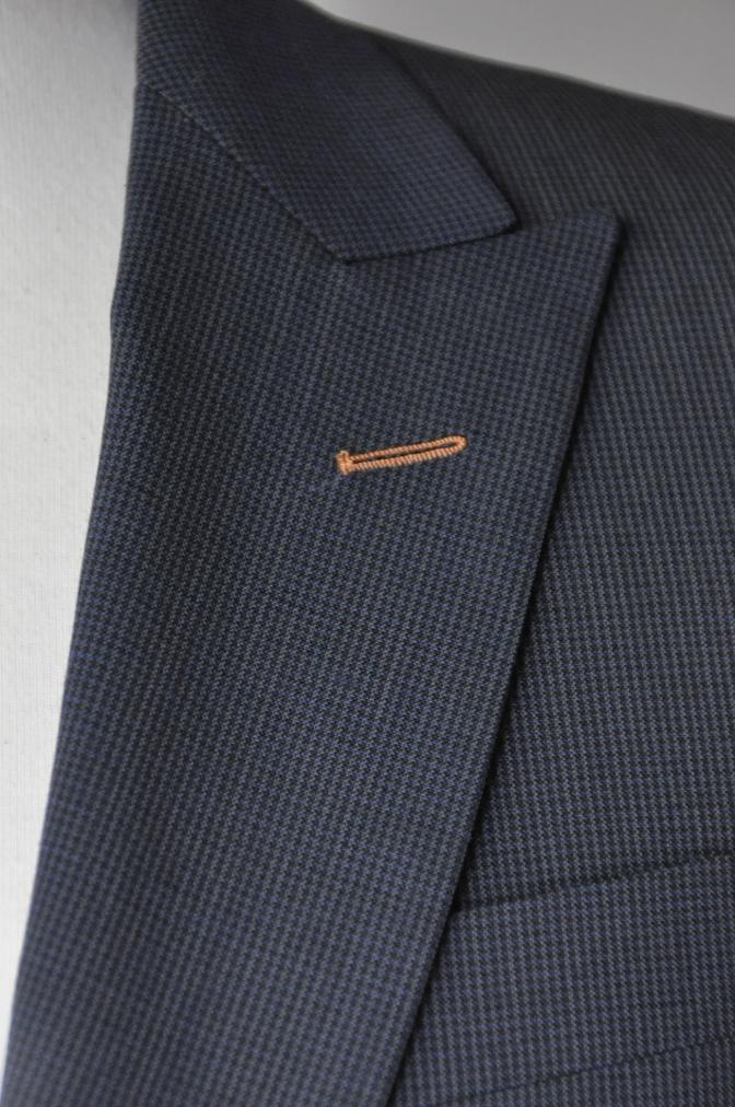 DSC1873 お客様のスーツの紹介- ネイビー千鳥格子スーツ-
