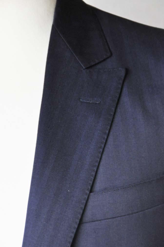 DSC18731 お客様のスーツの紹介-御幸毛織 ネイビーヘリンボーン-