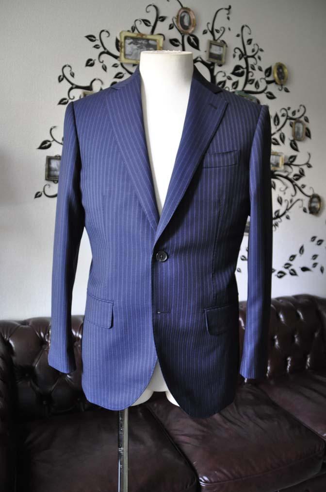 DSC1875-1 お客様のスーツの紹介-Biellesiネイビーストライプスーツ- 名古屋の完全予約制オーダースーツ専門店DEFFERT