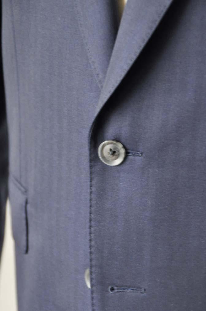 DSC18751 お客様のスーツの紹介-御幸毛織 ネイビーヘリンボーン-
