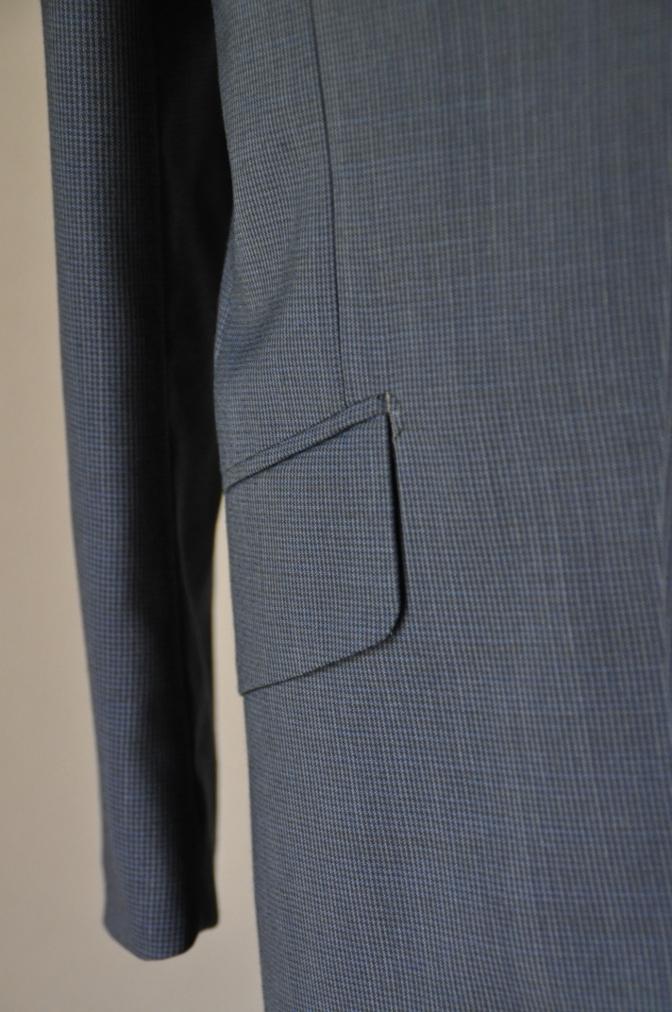 DSC1876 お客様のスーツの紹介- ネイビー千鳥格子スーツ-
