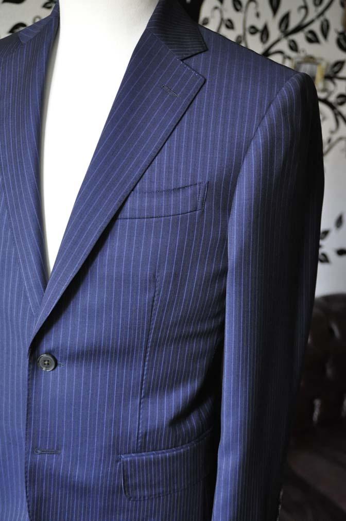 DSC1878-1 お客様のスーツの紹介-Biellesiネイビーストライプスーツ- 名古屋の完全予約制オーダースーツ専門店DEFFERT