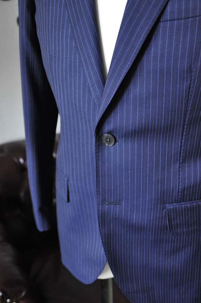 DSC1879-1 お客様のスーツの紹介-Biellesiネイビーストライプスーツ- 名古屋の完全予約制オーダースーツ専門店DEFFERT