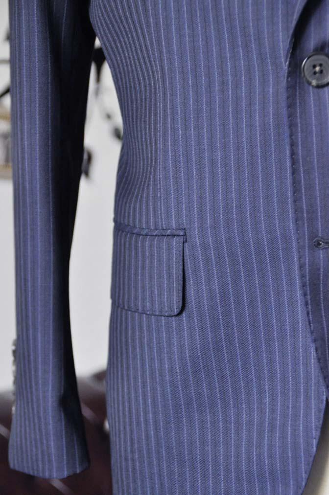 DSC1880-1 お客様のスーツの紹介-Biellesiネイビーストライプスーツ- 名古屋の完全予約制オーダースーツ専門店DEFFERT