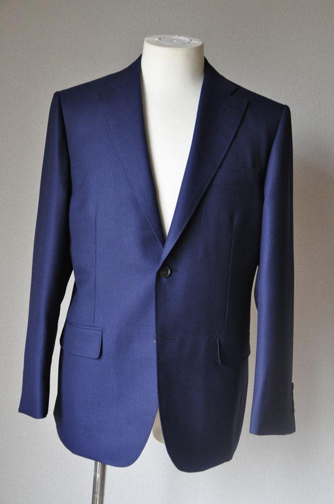 DSC18831 お客様のジャケットの紹介-CANONICO ネイビーホップサックジャケット- 名古屋の完全予約制オーダースーツ専門店DEFFERT