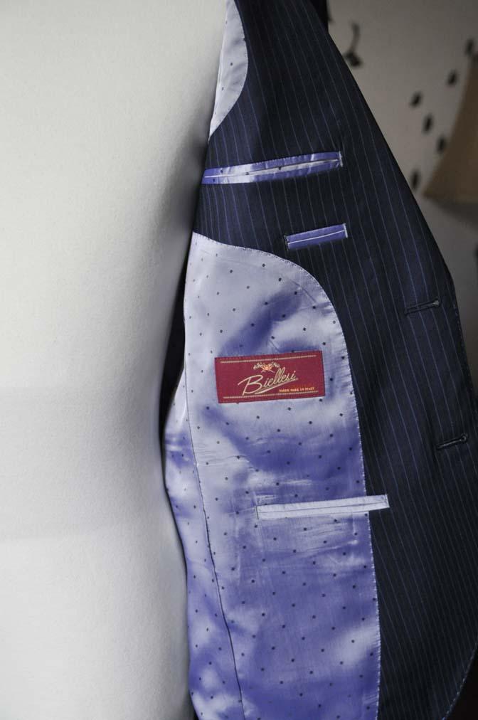 DSC1884-1 お客様のスーツの紹介-Biellesiネイビーストライプスーツ- 名古屋の完全予約制オーダースーツ専門店DEFFERT