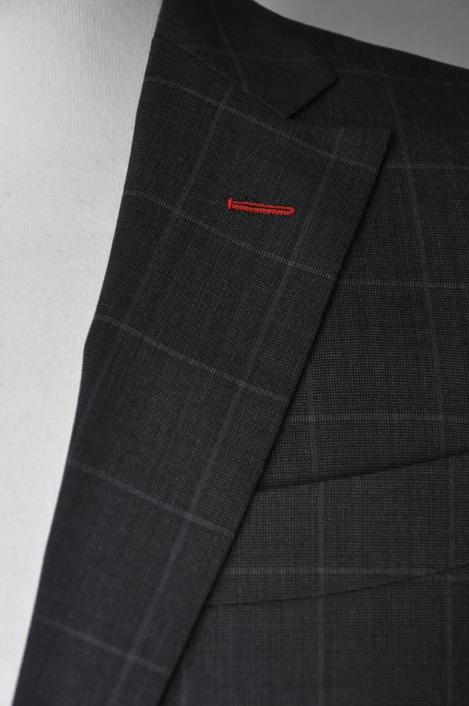 DSC1884 お客様のスーツの紹介- チャコールグレーウインドペーン-