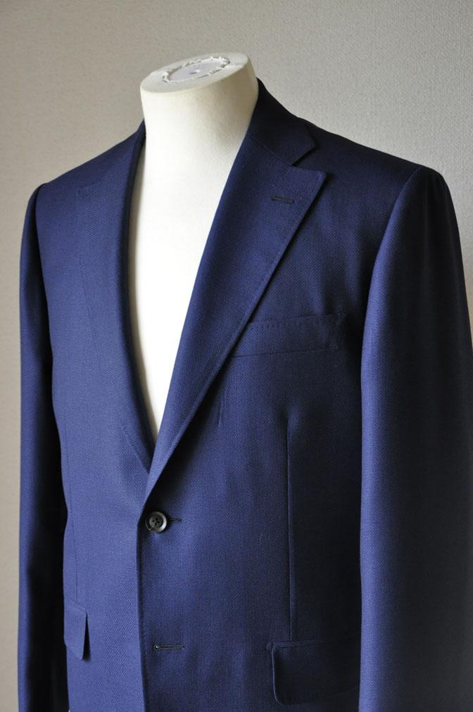 DSC18841 お客様のジャケットの紹介-CANONICO ネイビーホップサックジャケット- 名古屋の完全予約制オーダースーツ専門店DEFFERT