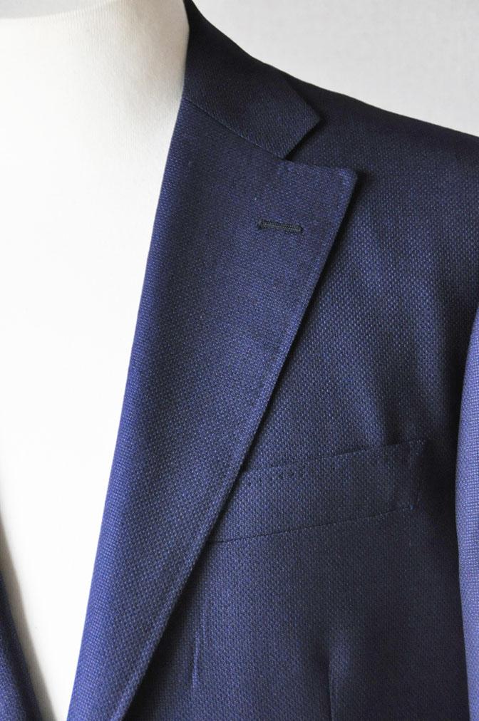 DSC18851 お客様のジャケットの紹介-CANONICO ネイビーホップサックジャケット- 名古屋の完全予約制オーダースーツ専門店DEFFERT