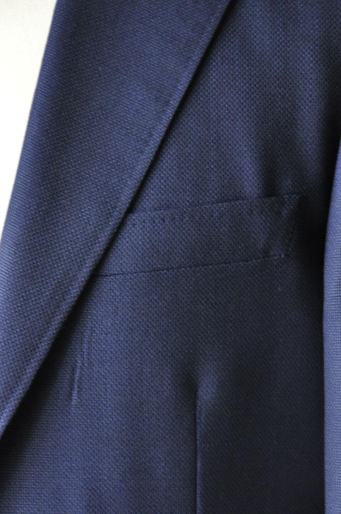 DSC18861 お客様のジャケットの紹介-CANONICO ネイビーホップサックジャケット- 名古屋の完全予約制オーダースーツ専門店DEFFERT