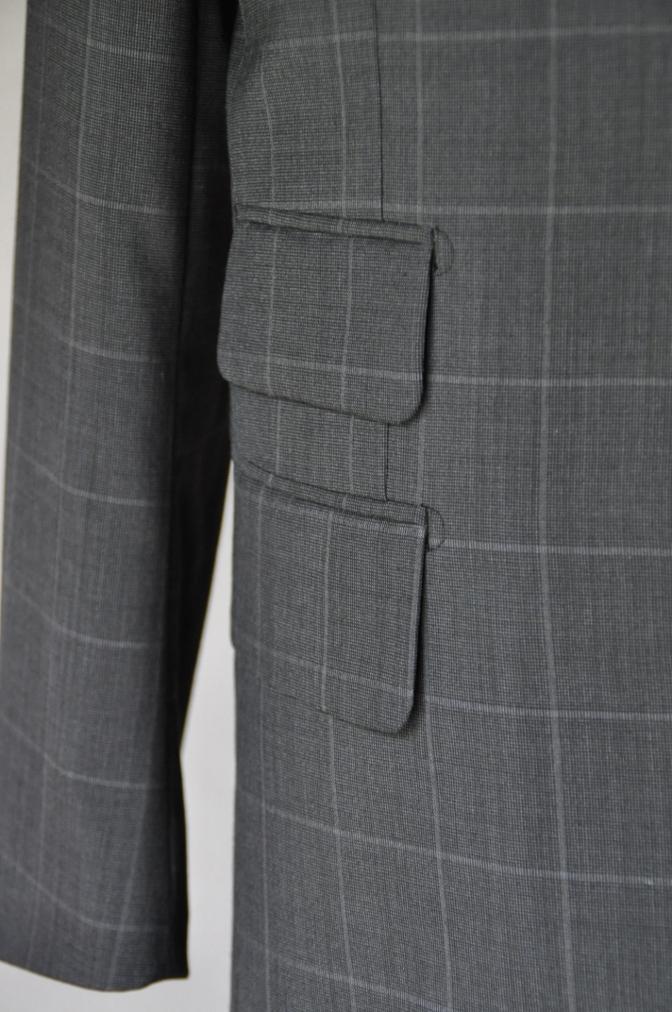 DSC1887 お客様のスーツの紹介- チャコールグレーウインドペーン-