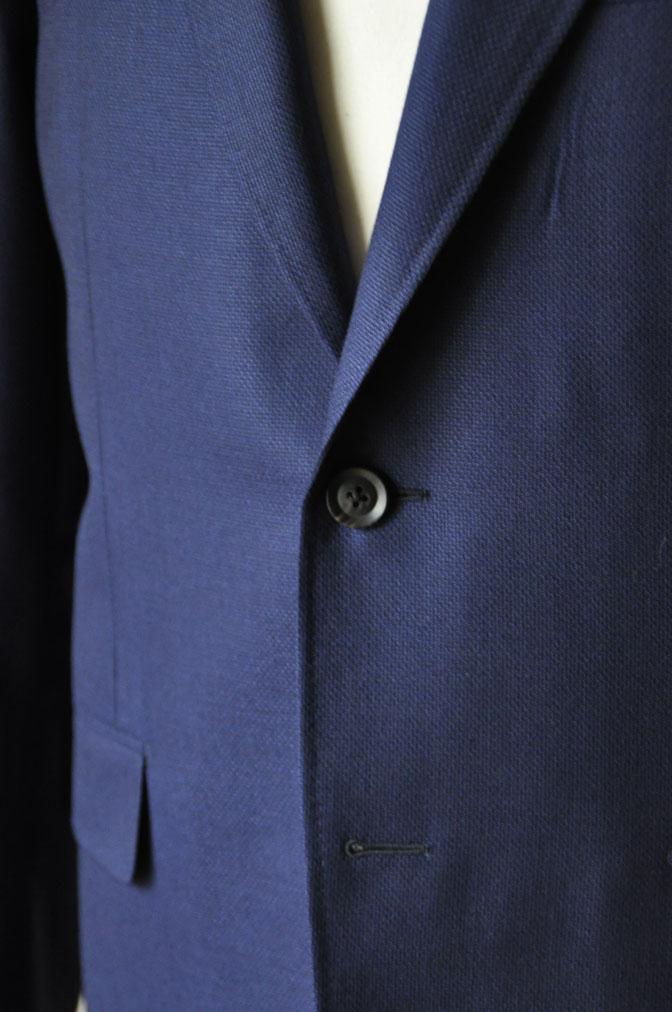 DSC18881 お客様のジャケットの紹介-CANONICO ネイビーホップサックジャケット- 名古屋の完全予約制オーダースーツ専門店DEFFERT