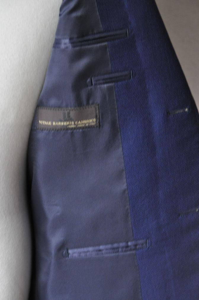 DSC18931 お客様のジャケットの紹介-CANONICO ネイビーホップサックジャケット- 名古屋の完全予約制オーダースーツ専門店DEFFERT