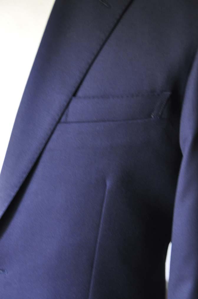 DSC18991 お客様のスーツの紹介- Biellesi 無地ネイビースーツ-