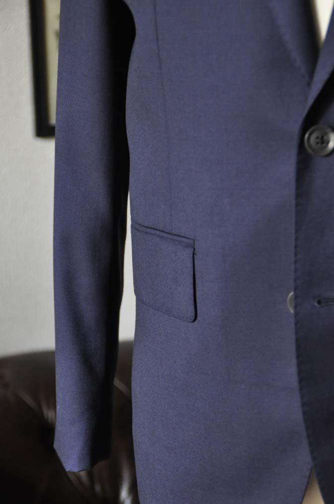 DSC1901 お客様のスーツの紹介- Biellesi 無地ネイビースーツ-