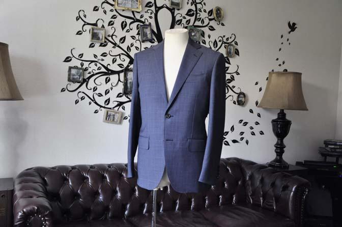 DSC1903-1 お客様のスーツの紹介-Biellesiネイビーグレンチェックスーツ-