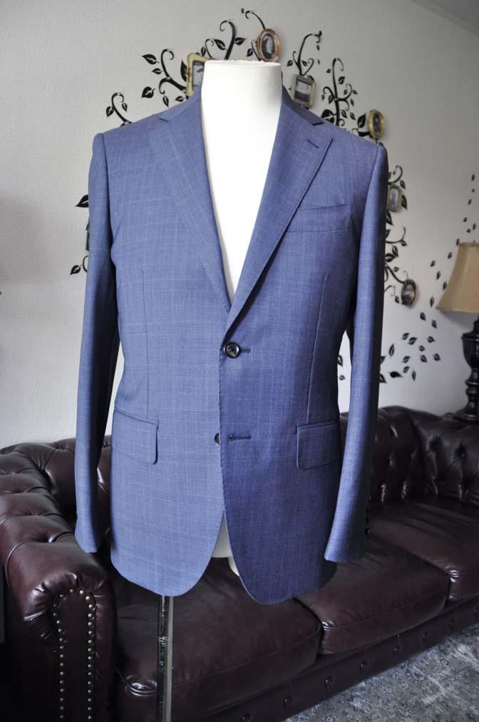 DSC1906-2 お客様のスーツの紹介-Biellesiネイビーグレンチェックスーツ-