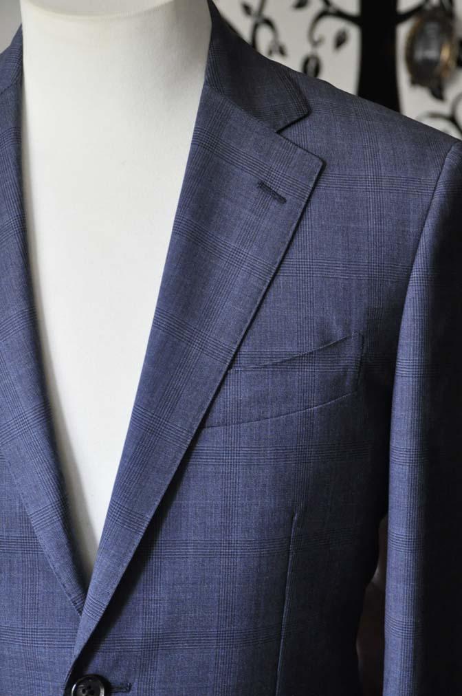 DSC1909-1 お客様のスーツの紹介-Biellesiネイビーグレンチェックスーツ-