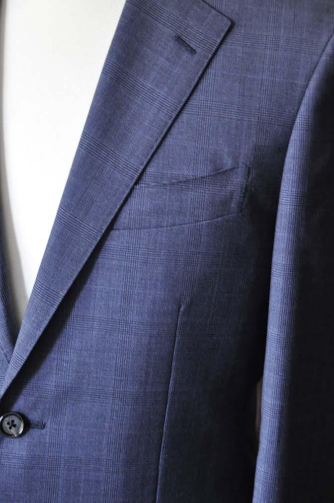 DSC1910-1 お客様のスーツの紹介-Biellesiネイビーグレンチェックスーツ-