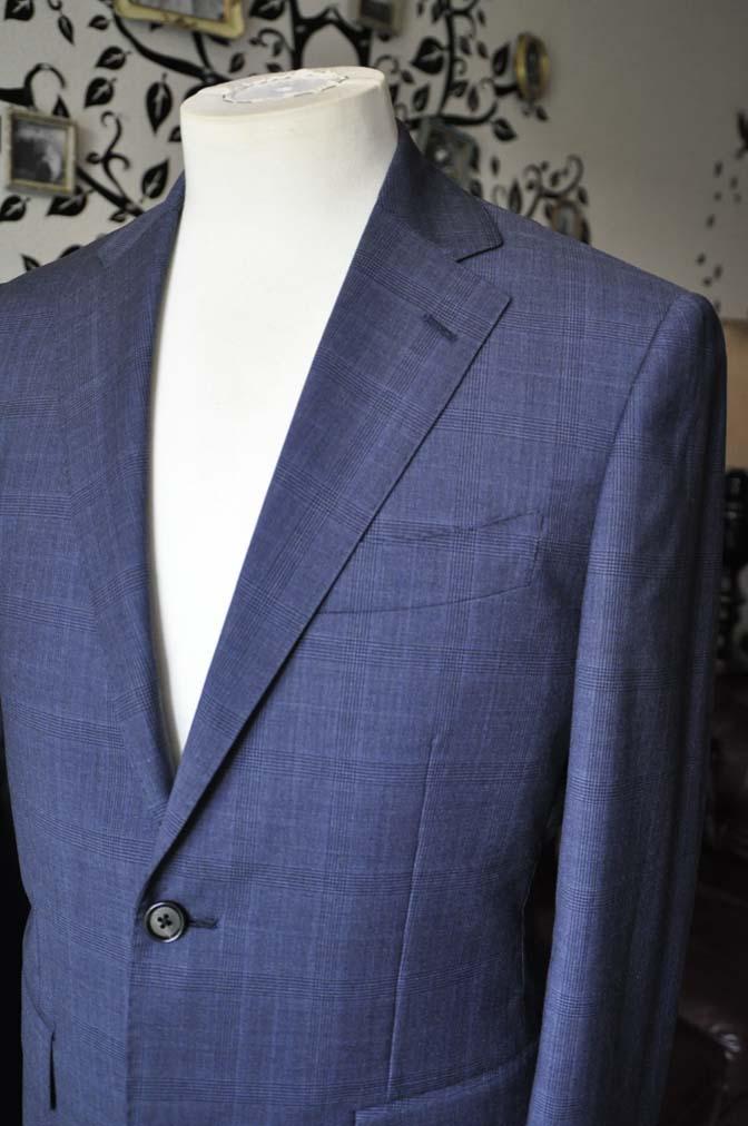 DSC1912-1 お客様のスーツの紹介-Biellesiネイビーグレンチェックスーツ-