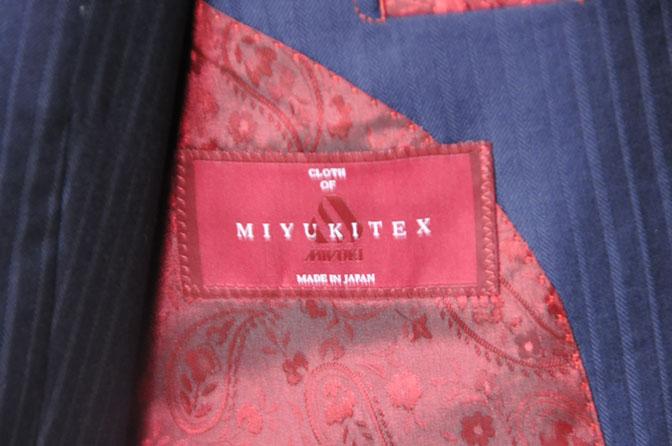 DSC19151 お客様のスーツの紹介-御幸毛織 ネイビーシャドーストライプ-