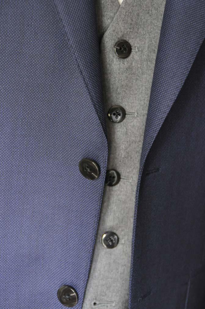 DSC19161 お客様のウエディング衣装の紹介- ネイビーバーズアイスーツ、グレーベスト-DSC19161 お客様のウエディング衣装の紹介- ネイビーバーズアイスーツ、グレーベスト- 名古屋市のオーダータキシードはSTAIRSへ