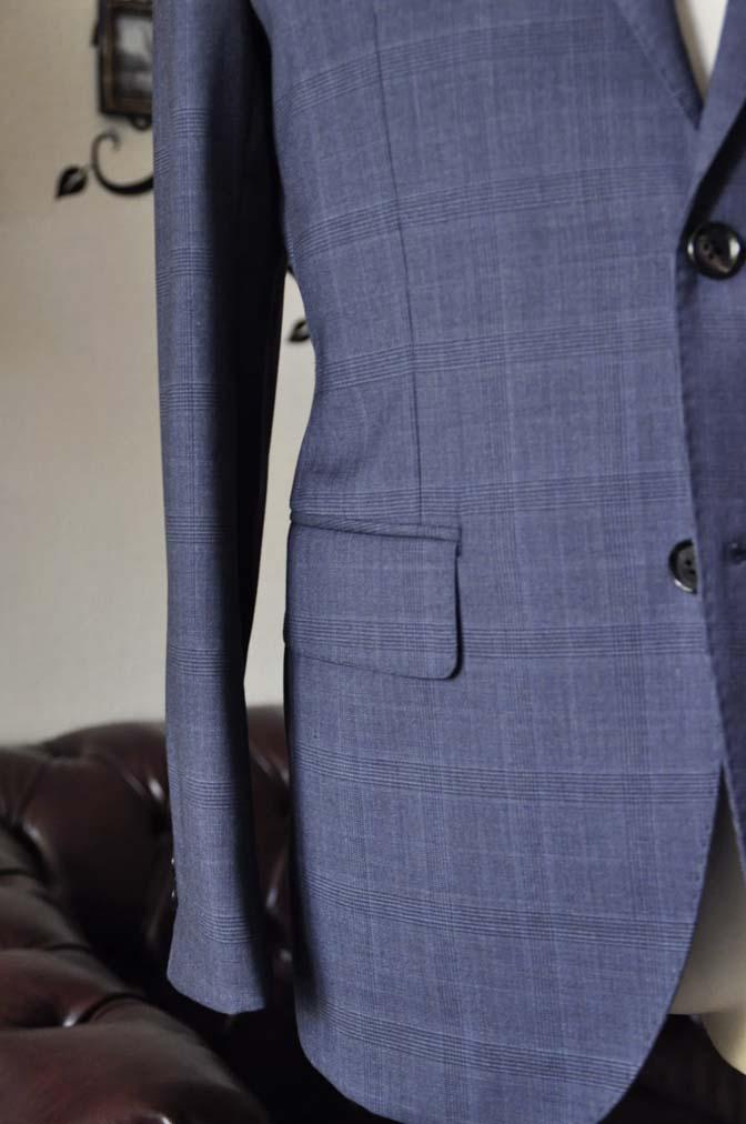 DSC1920-1 お客様のスーツの紹介-Biellesiネイビーグレンチェックスーツ-