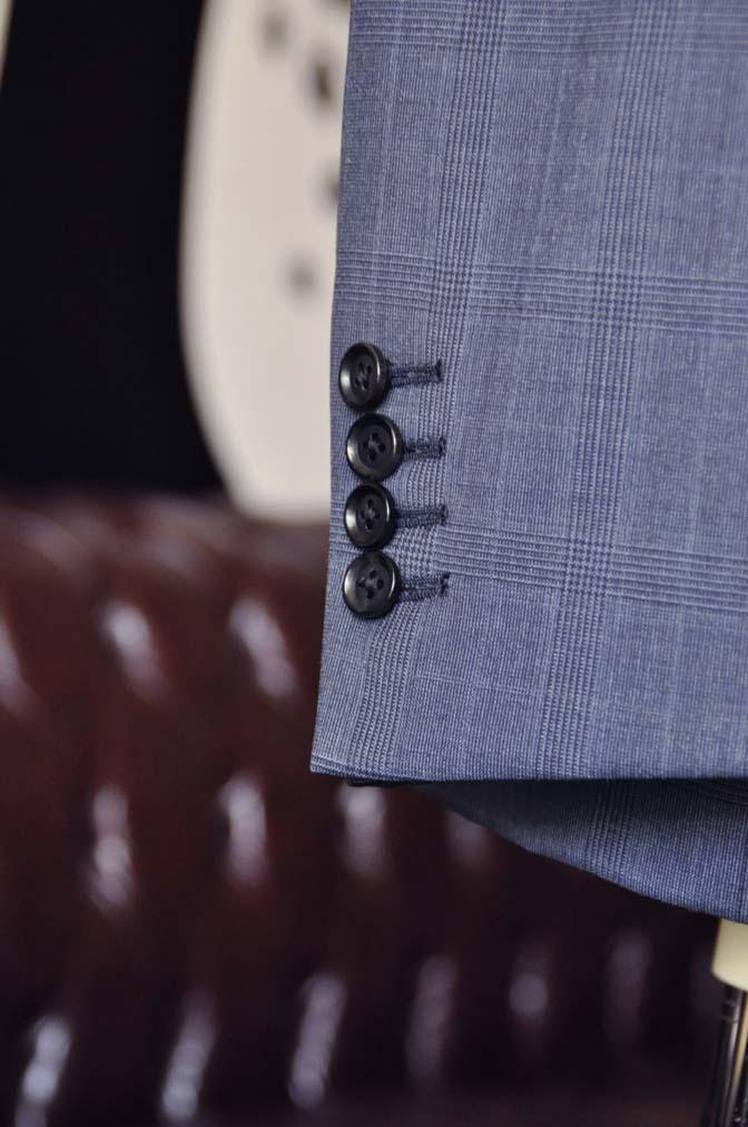 DSC1923-1 お客様のスーツの紹介-Biellesiネイビーグレンチェックスーツ-