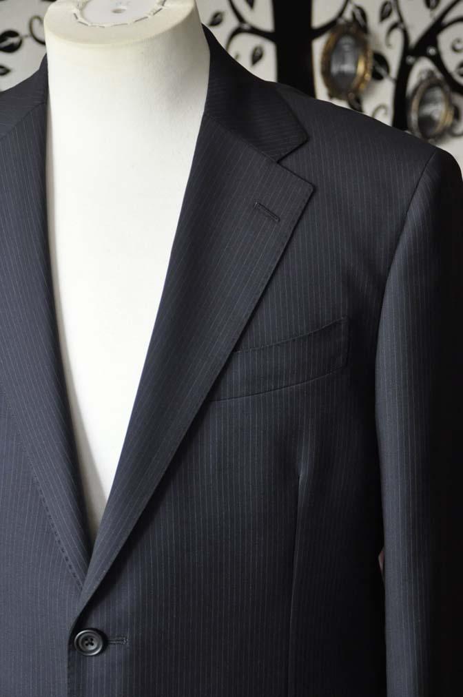DSC1937-1 お客様のスーツの紹介-CARLO BARBERAネイビーストライプスーツ- 名古屋の完全予約制オーダースーツ専門店DEFFERT