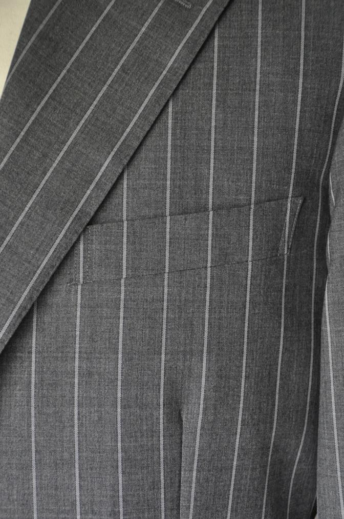 DSC1937 お客様のスーツの紹介- CANONICO グレーストライプ-