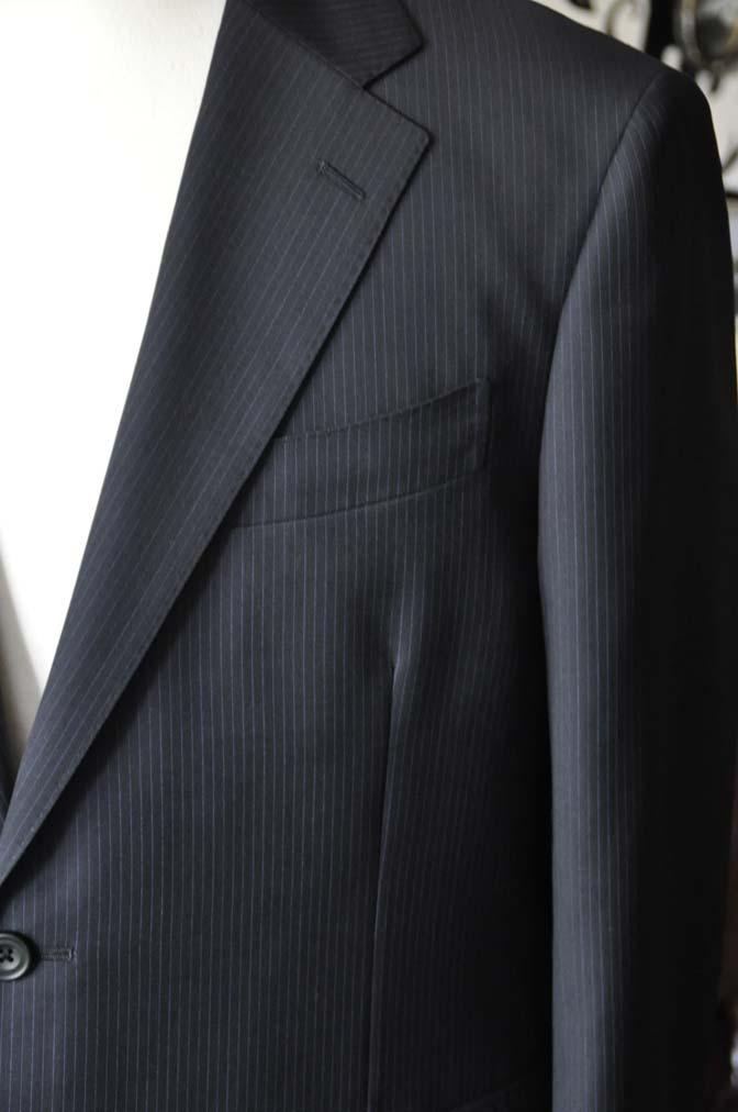 DSC1938-1 お客様のスーツの紹介-CARLO BARBERAネイビーストライプスーツ- 名古屋の完全予約制オーダースーツ専門店DEFFERT
