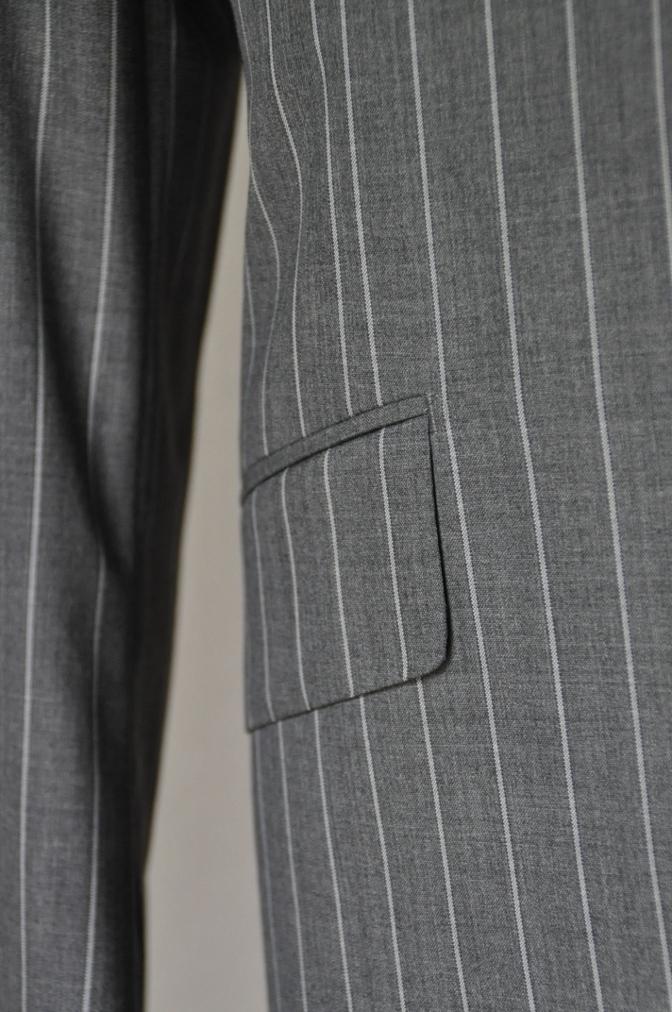 DSC1939 お客様のスーツの紹介- CANONICO グレーストライプ-