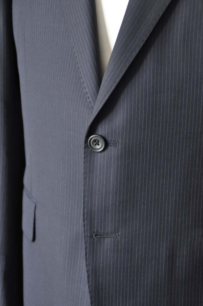 DSC1940-1 お客様のスーツの紹介-CARLO BARBERAネイビーストライプスーツ- 名古屋の完全予約制オーダースーツ専門店DEFFERT