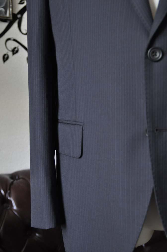 DSC1941-1 お客様のスーツの紹介-CARLO BARBERAネイビーストライプスーツ- 名古屋の完全予約制オーダースーツ専門店DEFFERT
