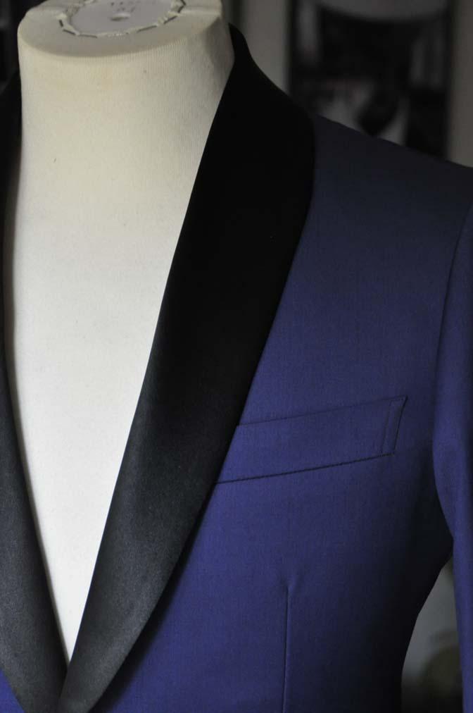 DSC19431 お客様のウエディング衣装の紹介- ネイビーショールカラータキシード-DSC19431 お客様のウエディング衣装の紹介- ネイビーショールカラータキシード- 名古屋市のオーダータキシードはSTAIRSへ