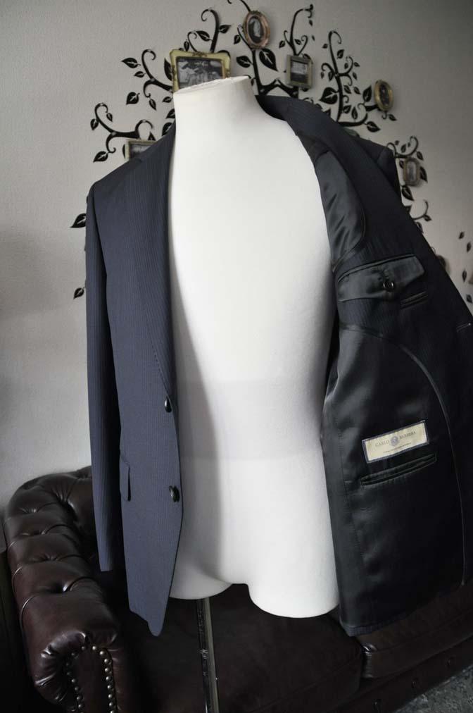 DSC1944-1 お客様のスーツの紹介-CARLO BARBERAネイビーストライプスーツ- 名古屋の完全予約制オーダースーツ専門店DEFFERT