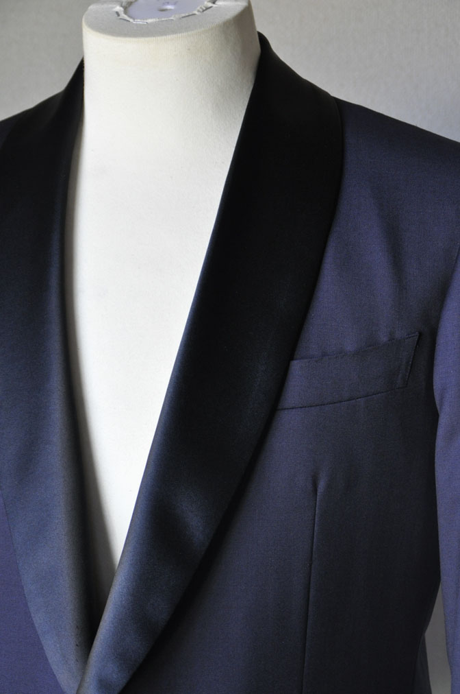 DSC1957 お客様のウエディング衣装の紹介-ネイビータキシード- 名古屋の完全予約制オーダースーツ専門店DEFFERT