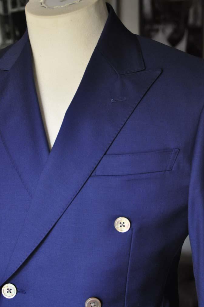 DSC1958 お客様のスーツの紹介-Biellesi 無地ネイビーダブルスーツ-