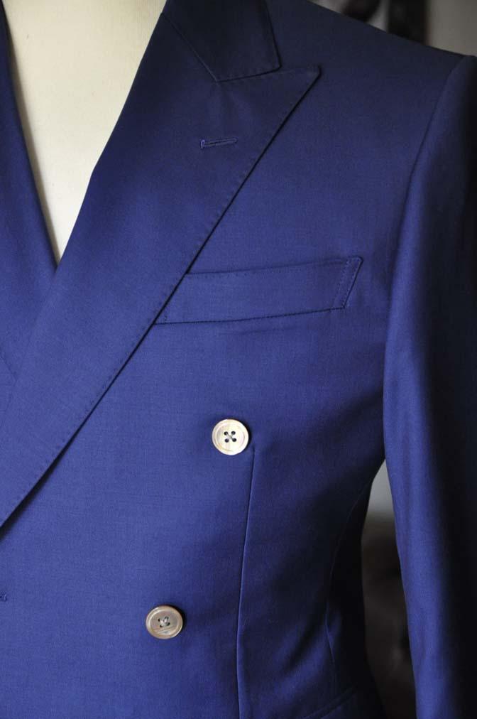 DSC1959 お客様のスーツの紹介-Biellesi 無地ネイビーダブルスーツ-