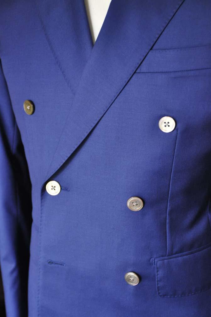 DSC19601 お客様のスーツの紹介-Biellesi 無地ネイビーダブルスーツ-