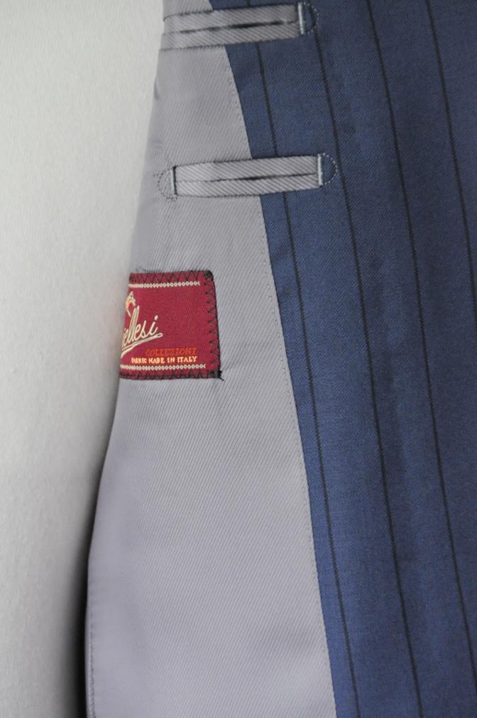 DSC1979 お客様のスーツの紹介-BIELLESI ネイビーストライプ-