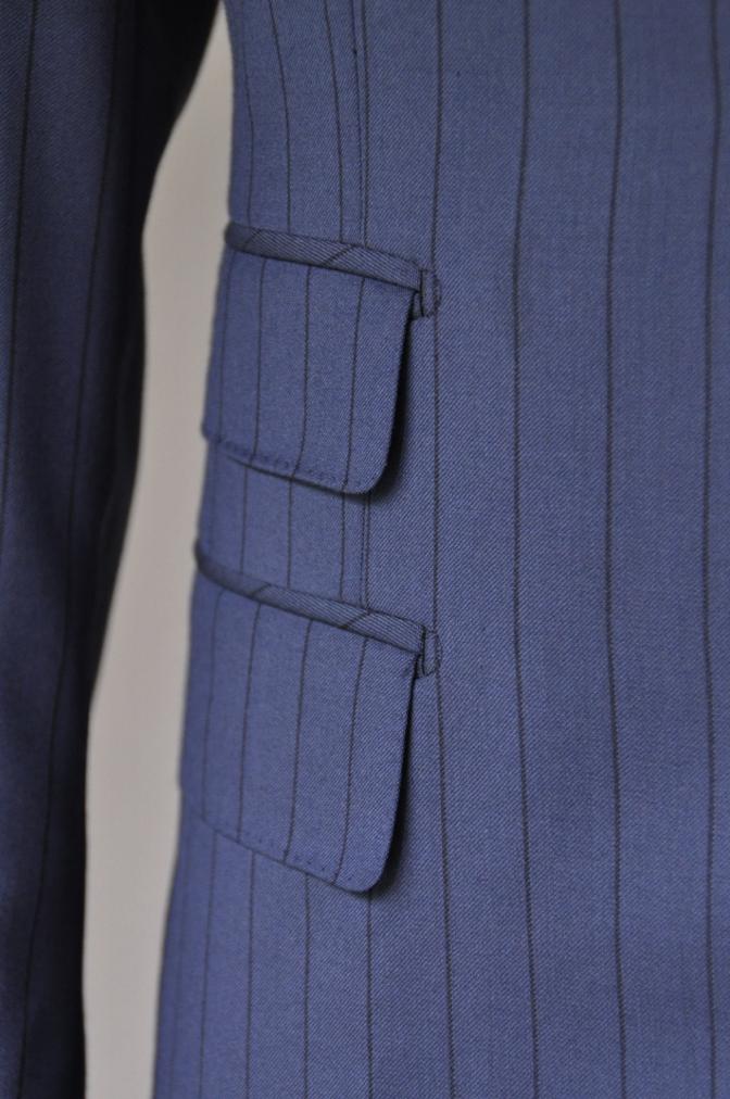 DSC1987 お客様のスーツの紹介-BIELLESI ネイビーストライプ-