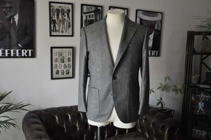 DSC19871 お客様のジャケットの紹介-グレーフランネルジャケット-