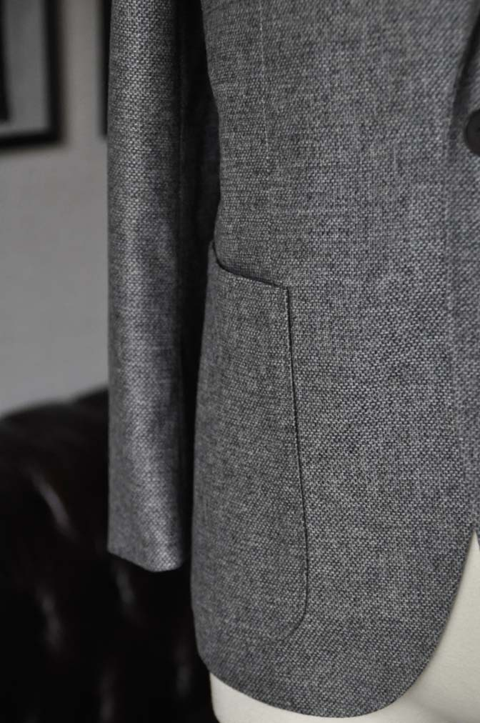 DSC19931 お客様のジャケットの紹介-グレーフランネルジャケット-