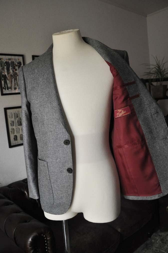DSC19951 お客様のジャケットの紹介-グレーフランネルジャケット-